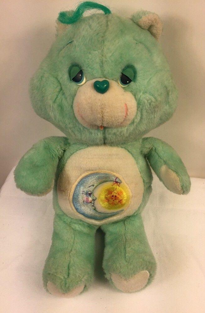 "Vtg Care Bears BEDTIME BEAR Plush Large 18"" Stuffed Animal American Greetings #CareBears"