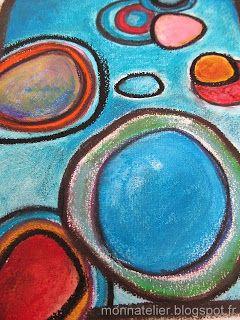 pastels eau, huile, peinture acrylique