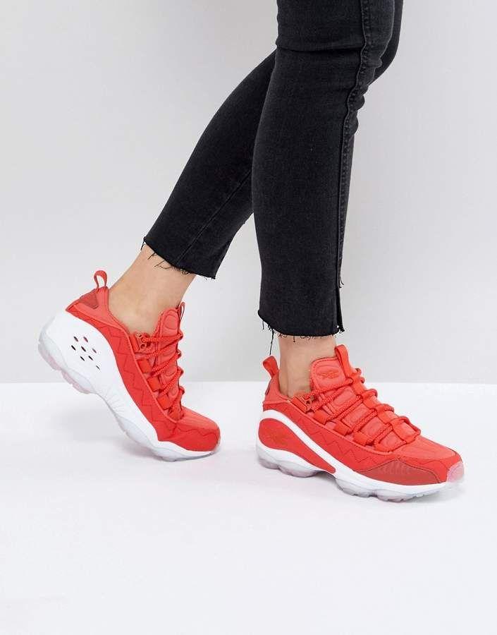 a5e76b39ed0 Reebok Classic Dmx Run 10 Ice Sneakers In Red