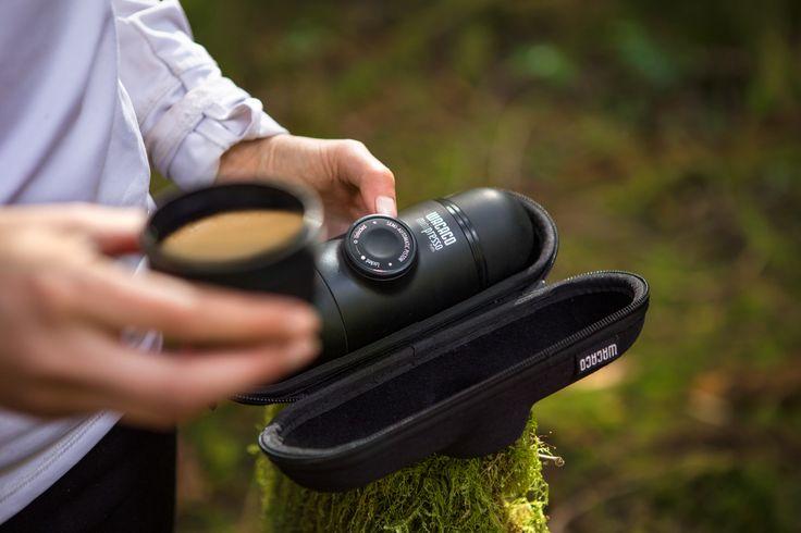 Minipresso is a small light portable espresso maker, perfect for the coffee lover on the go! #espresso #coffee #portableespresso #portablecoffee #espressomaker #espressomachine #giftideasforcoffeelovers #espressoanywhere #wacaco #minipresso #mountainbiking