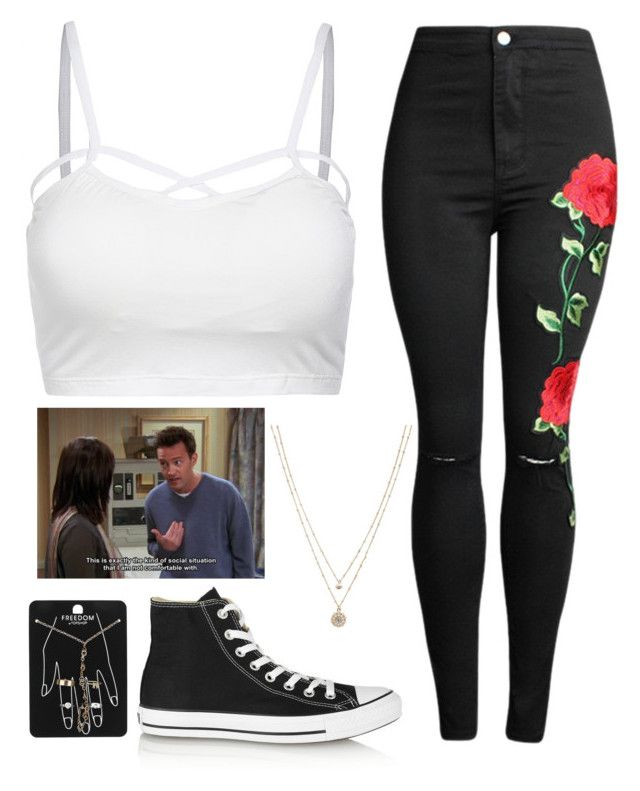 """Untitled #210"" by chill-outfits ❤ liked on Polyvore featuring Converse, LC Lauren Conrad and Topshop"