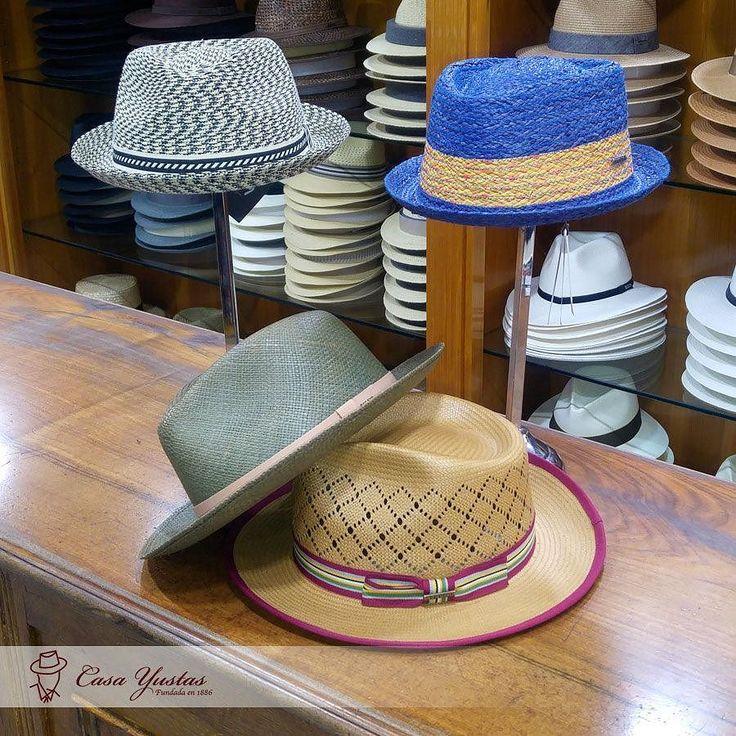 Hay sombreros que desbordan personalidad propia! No os parece?  MANNES (Rayas) PLAYER Sombrero de Rafia (Azul) Sombreros GELHORN de paja (verde) TOYO Fedora