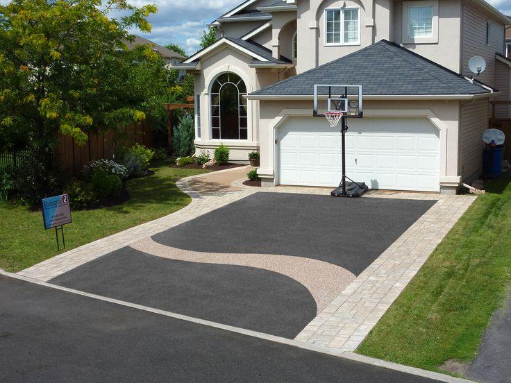 Rubber driveway resurfacing