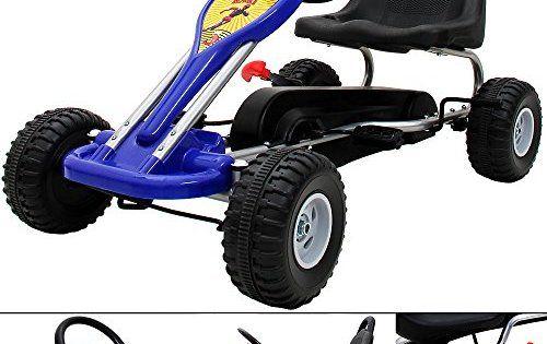 Kart enfant F1 – Mini kart à pédale et frein – Karting – Pilote Course: Siège réglable Frein à main pour les deux roues arrière Roues et…