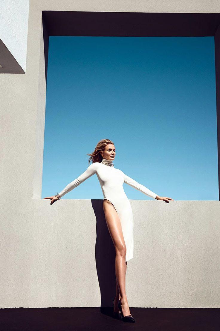 Editorial Glamour /karen cox... Harpers Bazaar US August 2014 | Cameron Diaz by Camilla Akrans