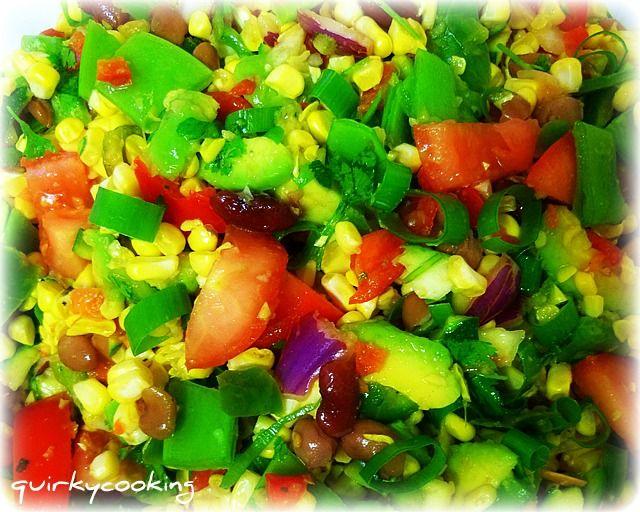 Tex-Mex Raw Corn Salad