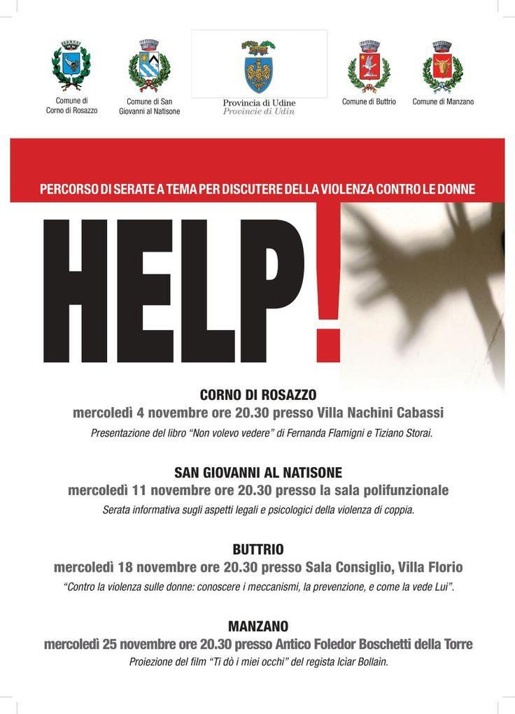 Help! Percorso di serate a tema per discutere della violenza contro le donne