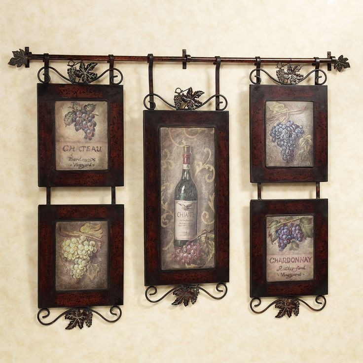 Wine Wall Decor For Kitchen : Emilion wine wall art decor kitchens and walls