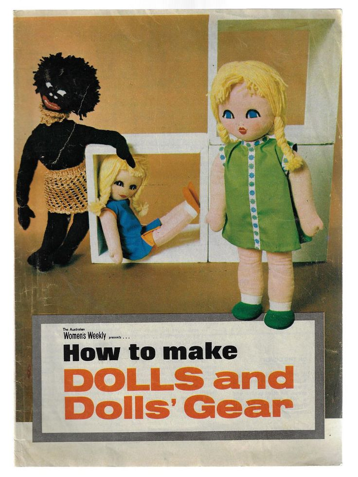 How to Make Dolls & Doll's' Gear knit & sew Aust Women's Weekly vintage liftout #AustralianWomensWeekly