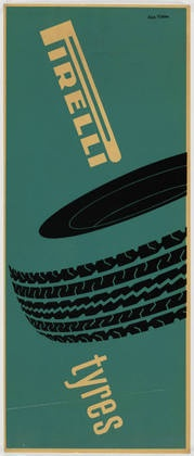 Pirelli Tyres by Alan Fletcher 1961.