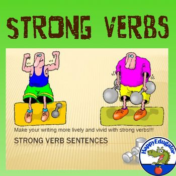 Strong verbs for writing