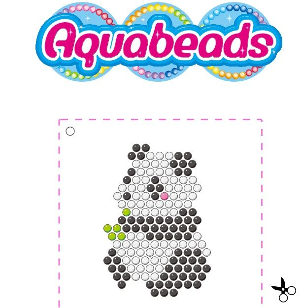 Aquabeads panda template gy ngy s pinterest pandas for Free beados templates