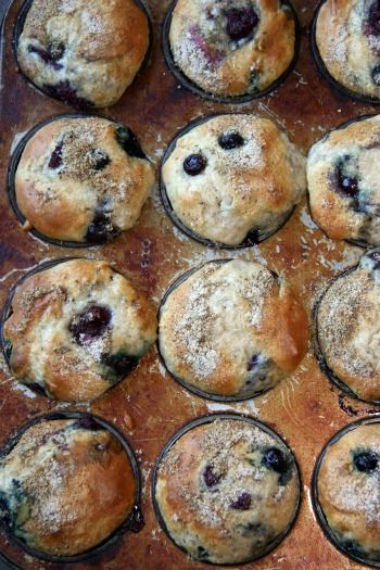 This again, allows of variety in your muffin flavors. I added blueberries,