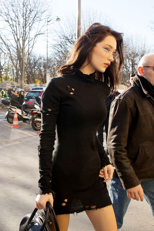 """Bella Hadid Arriving at the Grand Palais in Paris, France 11.28.16 """