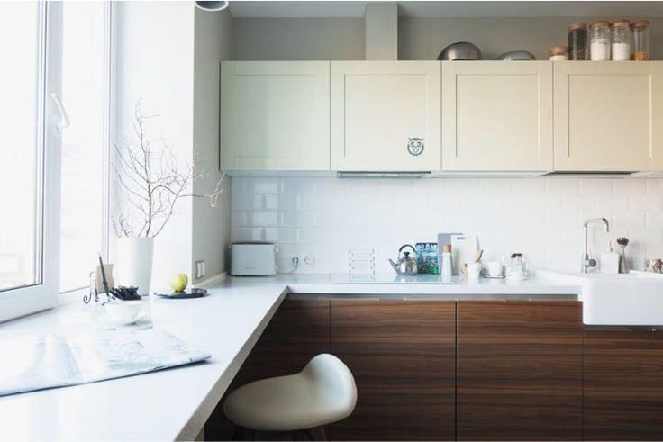 Фартук кабанчик на кухне в стиле контемпорари