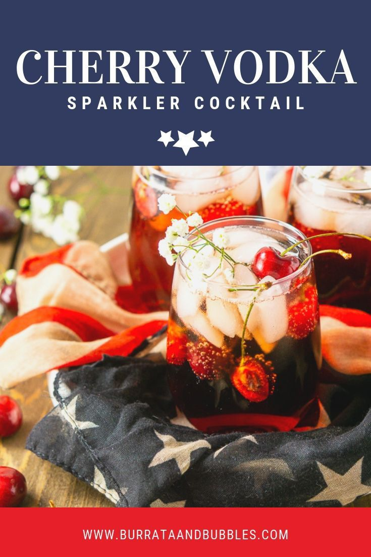 Looking for some easy and delicious 4th of July cocktails? Try this cherry vodka…
