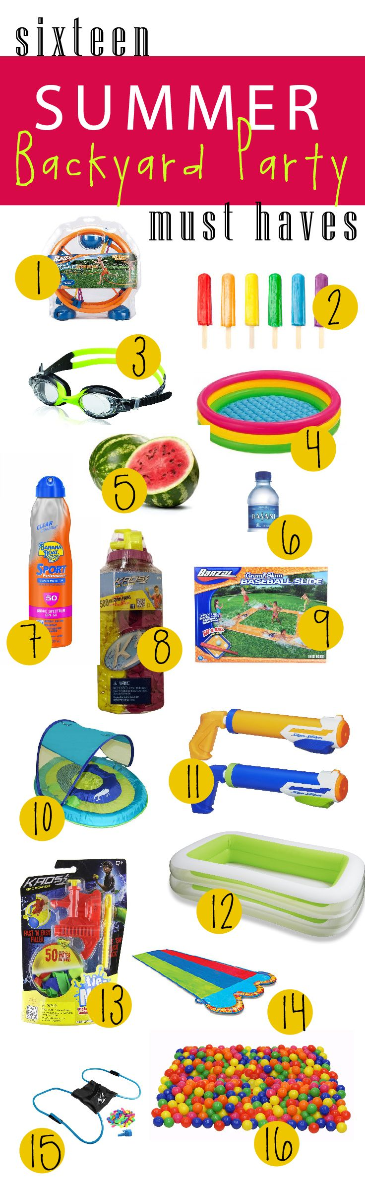Summer water party must haves!! These are my favorite things to survive the backyard splash parties and to keep your kids entertained all summer long! ! Find out why I LOVE these products! !