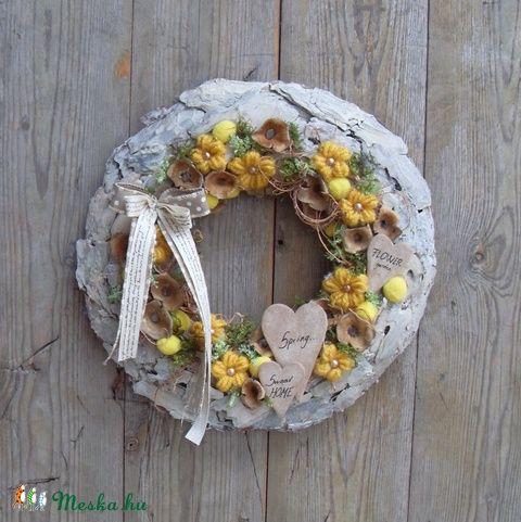 Beköszöntött a tavasz - tavaszi ajtódísz, Dekoráció, Otthon, lakberendezés, Dísz, Falikép, Meska