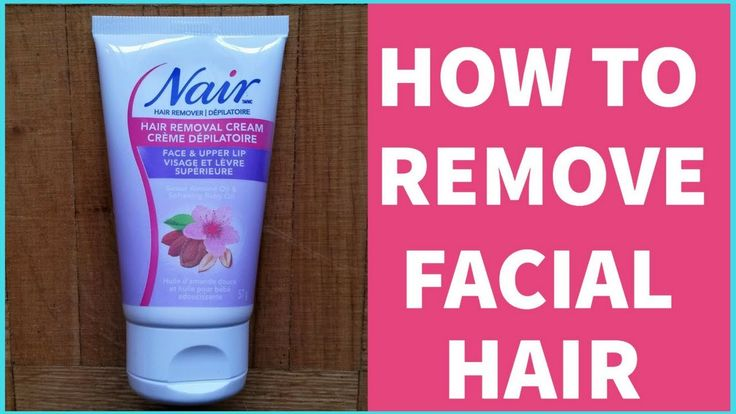 HOW TO REMOVE FACIAL HAIR FAST | Nair Hair Removal Cream Demo + Tutorial | Painless