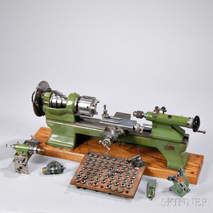 Schaublin-Villeneuve 70mm Clock and Watchmaker's Lathe | Sale Number 2802T, Lot Number 1200 | Skinner Auctioneers