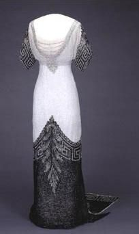 Princess Maud of Wales, Queen Consort of Norway, evening dress 'Arlesienne', Worth, 1912-1913, The National Museum of Art, Architecture and Design.