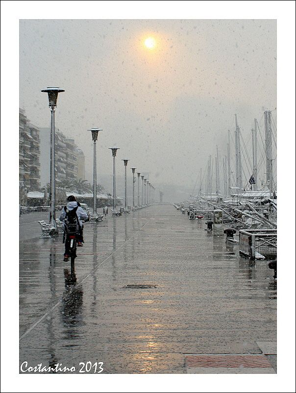 snow and sun - Volos, Greece