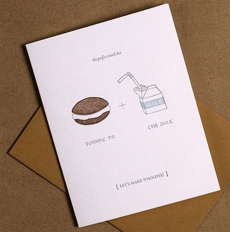 Paper Goods - Valentine's Day - Letterpress Let's Make Whoopie Valentine Cards