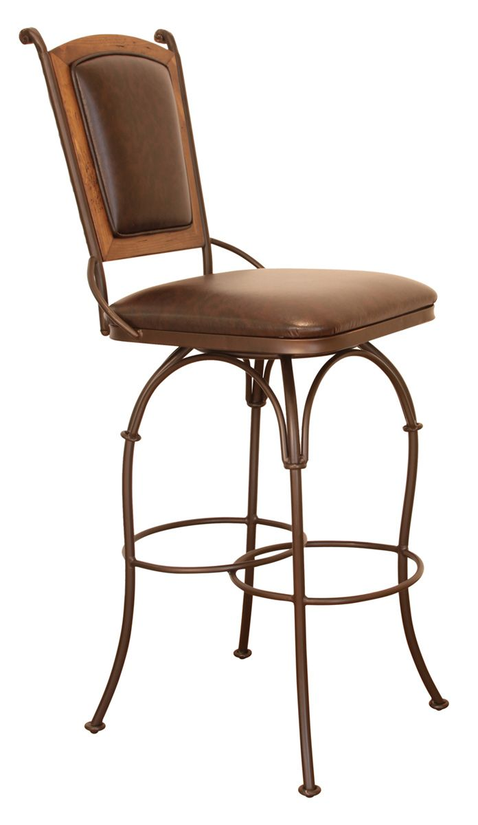 Western Furniture: Cantina Armless Swivel Barstool|Lone Star Western Decor