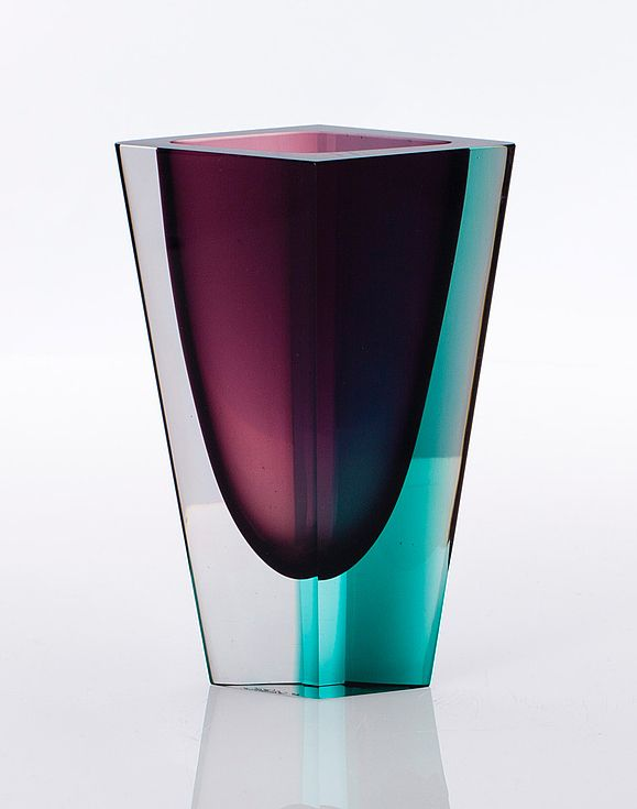 "Kay Franck ""Prisma"" vase, by Nuutajärvi, Finland, 1957"