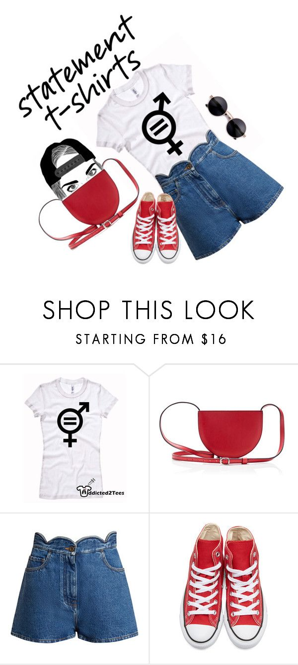 """""""Equality"""" by bogabag on Polyvore featuring Valentino and Converse Bogabag red hallfcircle crossbody bag"""