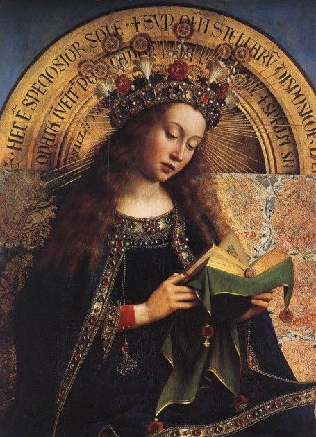 Jan Van Eyck, detail of Virgin from the Ghent altarpiece, 1432