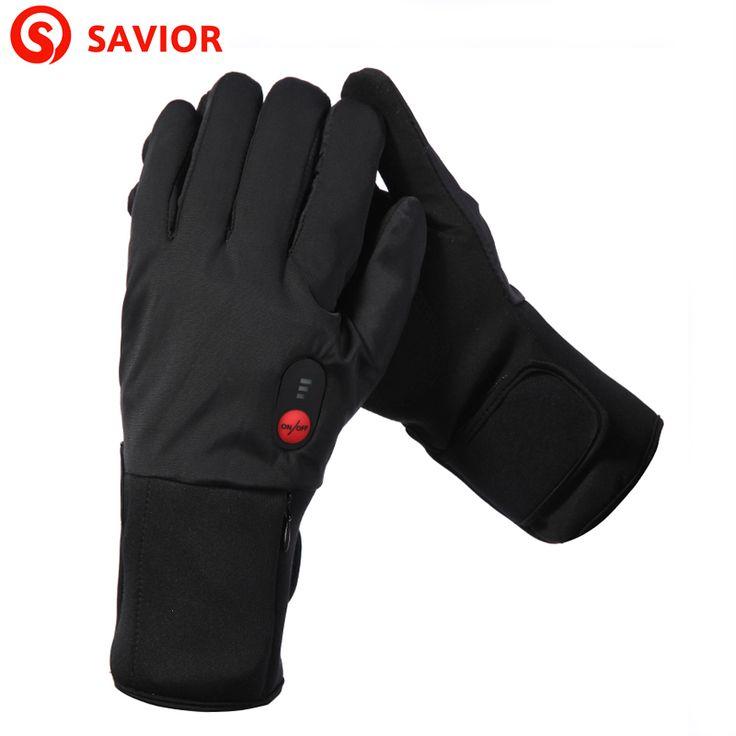 SAVIOR S-11B Thin Model Electric heating Gloves Winter Ski Biking low temperature Men Women Christmas Gift Keep Warm