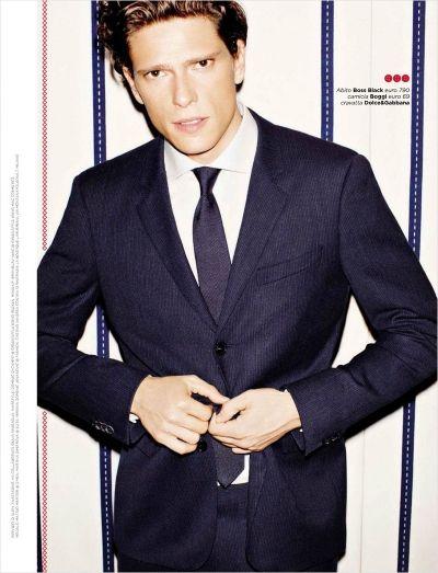 Magazine: GQ Italy  Issue: November 2012  Editorial: Giochi Su Misura  Models: Matteo Martari |D'Men|, Martina Dimitrova |Elite|, Miriana Domenic Jovanovic |Fashion|  Stylist: Elisa Anastasino  Photographer: Tony Kelly