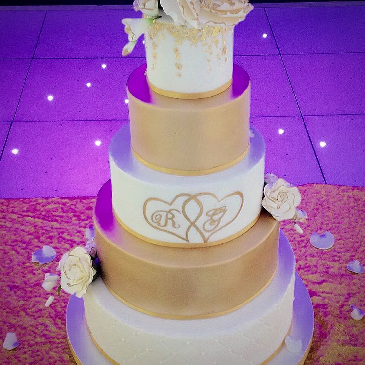 Asian 5 tier wedding cake ,delivered and set up at Alfreton leisure centre