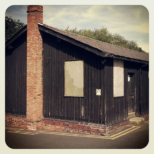 Great old building, I think its on English Heritage register. Canal boat workshop, Newport, Shropshire.