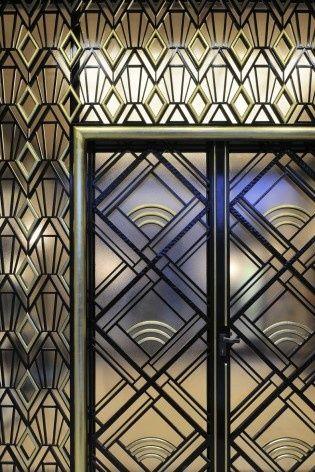 entrance door detail - Art Déco Villa Empain by Michel Polak (1931/34), Brussels, Belgium