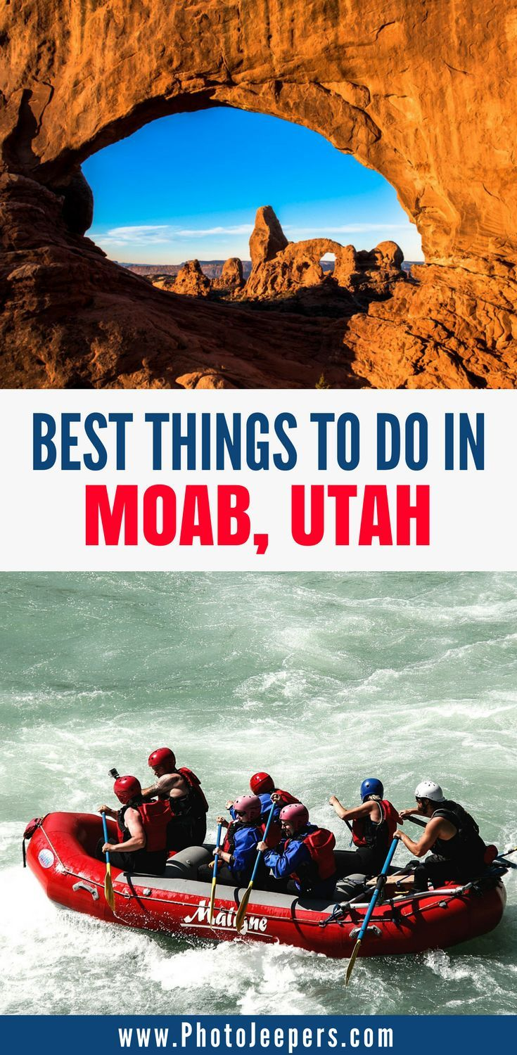 Are you planning a trip to Moab, Utah this year? If so, you have to check out this Moab Utah travel guide. We will tell you everything you need to know about your Moab trip including the best time to visit Moab, where to stay in Moab, the best things to do in Moab, national parks to see in Moab, and much more. Don't forget to save this Moab guide to your travel board so you can find it later. #moab #moabutah #utahtravel #visitmoab
