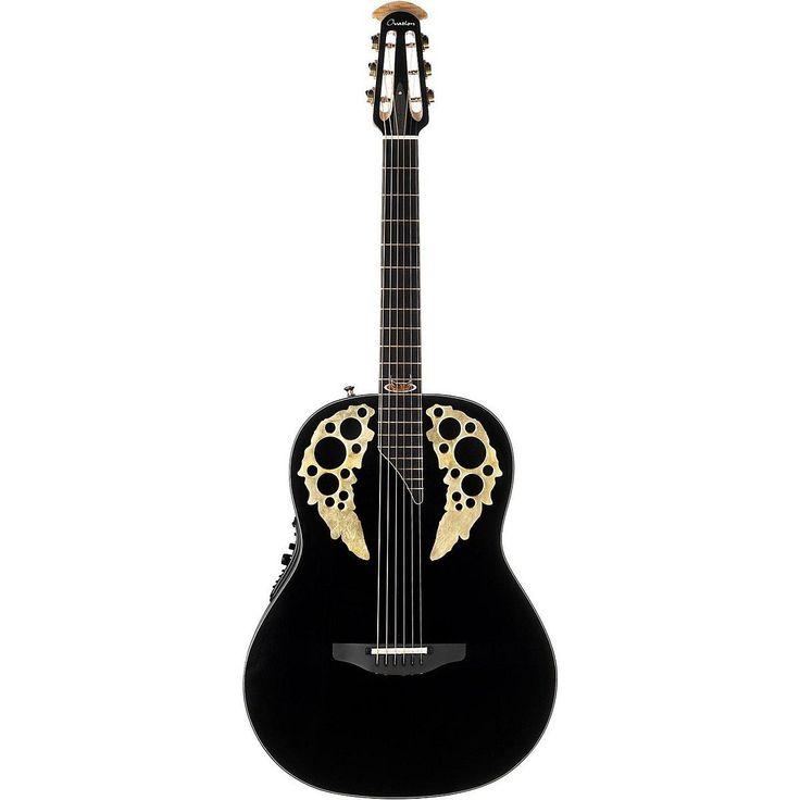 Ovation S de guitarra acústica 50th Anniversary Custom Elite MID Non de Cutaway Black 1678 av50 - 5: Amazon.es: Instrumentos musicales