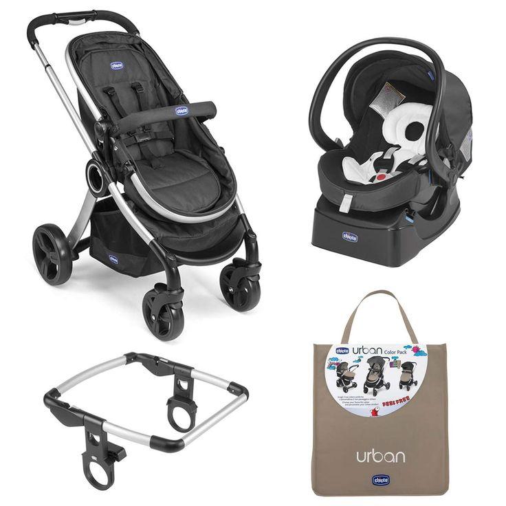 Carrinho de Bebê Chicco Travel System Urban e Auto fiz fast bebê conforto