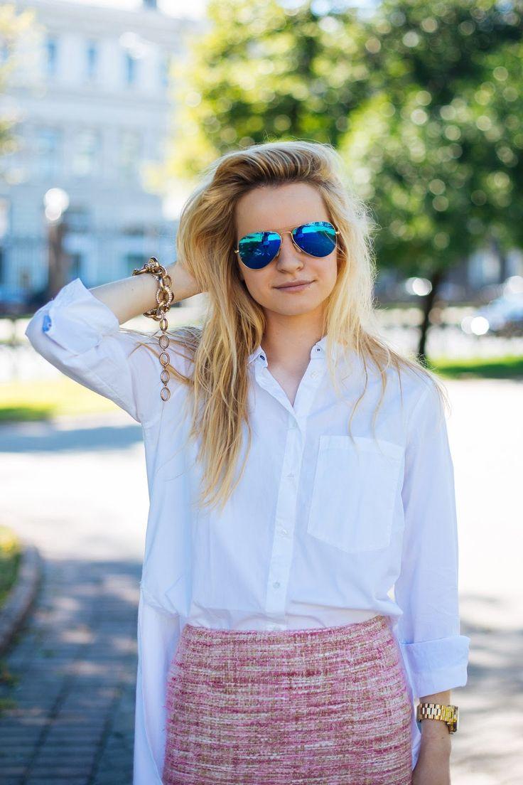поляризованные очки, фэшн блоггеры россии, уличная мода 2015 фото