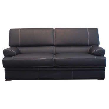 Canapé fixe 3 places LEONARDO coloris noir - pas cher ? C'est sur Conforama.fr - large choix, prix discount et des offres exclusives Canapé droit sur Conforama.fr