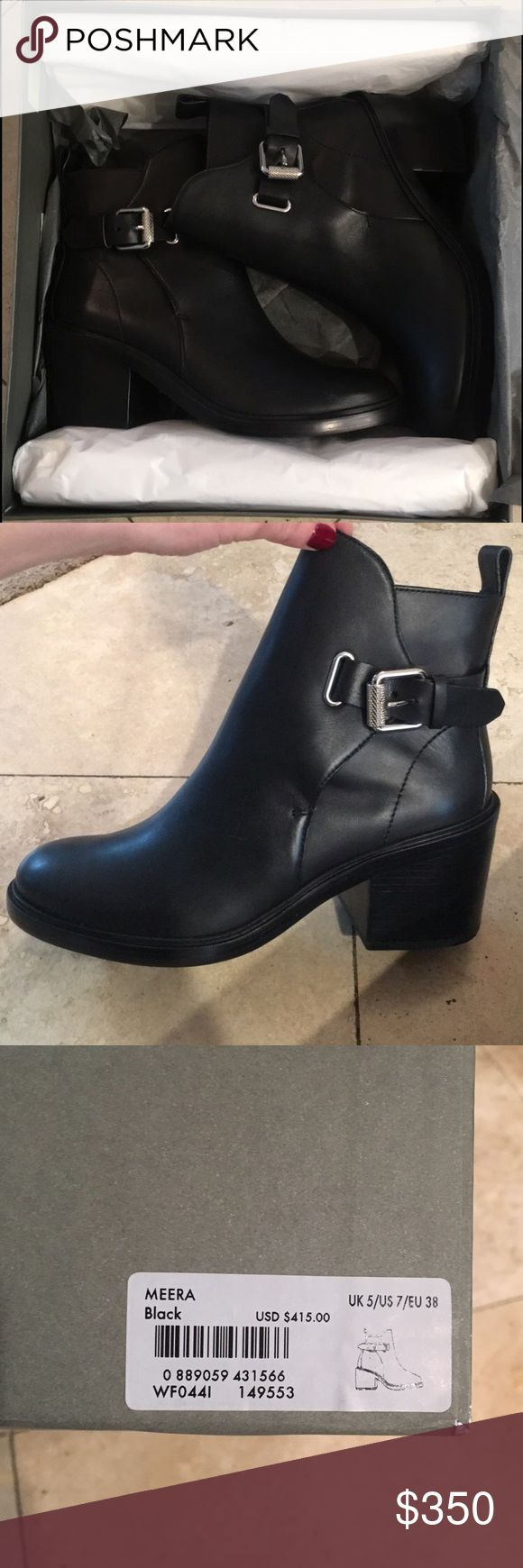 BRAND NEW ALLSAINTS BOOTS Meera black ALLSAINTS booties// never been worn! Leave comments below for any questions!! Xo All Saints Shoes Heeled Boots