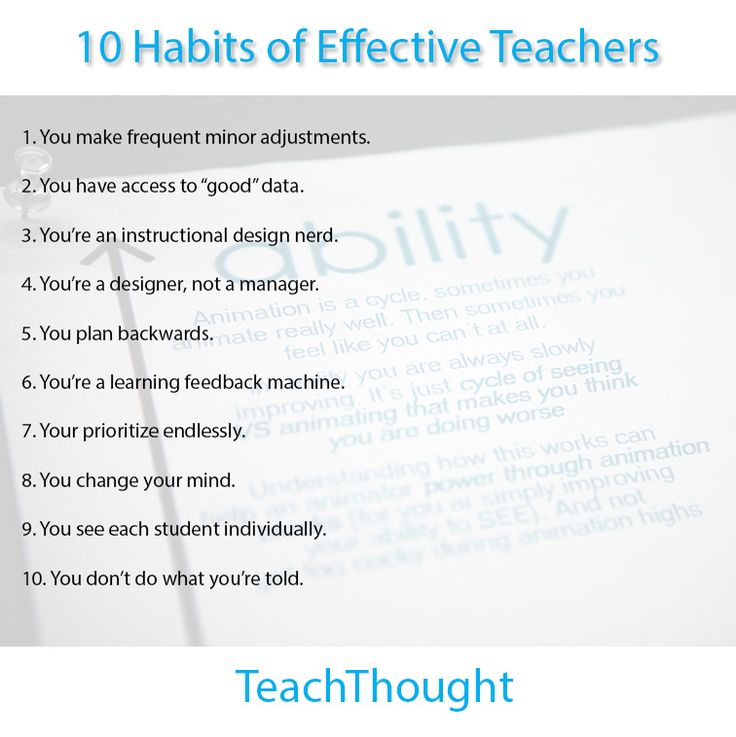 10-habits-of-effective-teachers. First, I will cry for where I'm not succeeding and for the beat-down. Then I will look for the ways I can use this stuff. That is all.