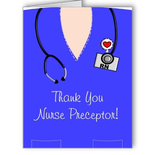 Nurse Preceptor Thank You Card IV http://www.zazzle.com/nurse_preceptor_thank_you_card_iv-137287810886887825?rf=238282136580680600
