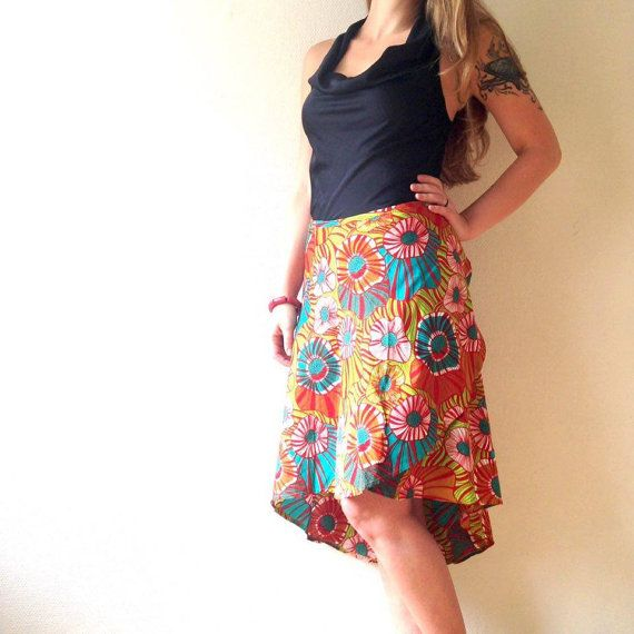 Funky Wrap Skirt by KofiDesigns on Etsy