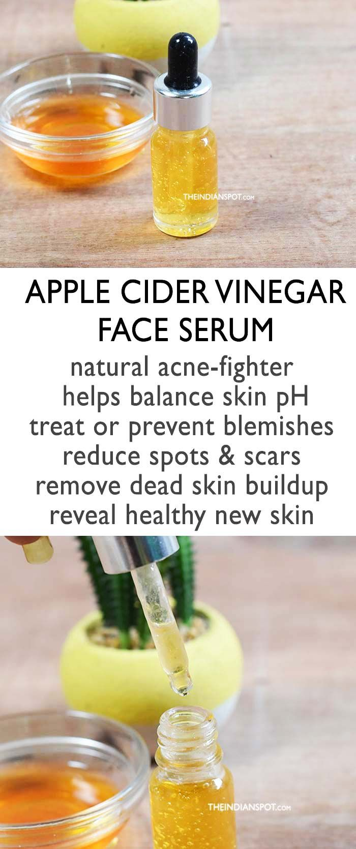 APPLE CIDER VINEGAR SERUM- Clear and balanced skin | Apple
