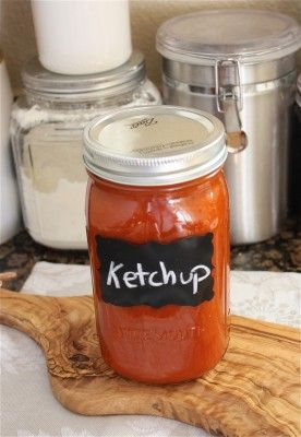 Homemade ketchup. Did you know that store-bought ketchup is loaded with sodium and sugar? Well, now you can make your own healthier version. With stevia instead brown sugar