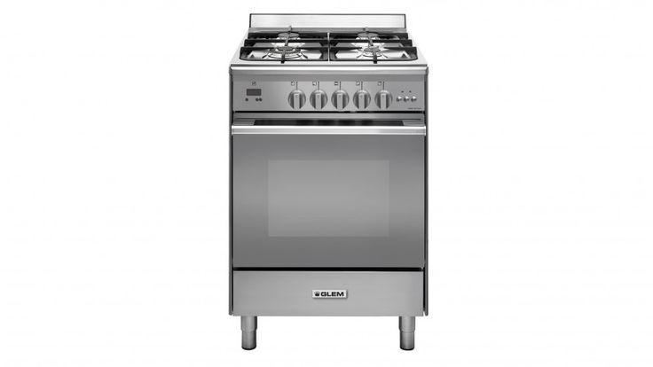 Glem 60cm Freestanding Natural Gas Cooker - Stainless Steel - Freestanding Cookers - Appliances - Kitchen Appliances | Harvey Norman Australia