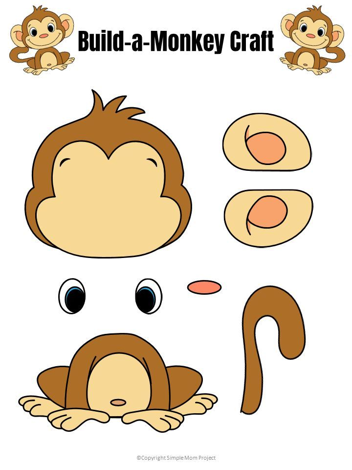 Easy Build-a-Monkey Craft for Kids with FREE Template ...