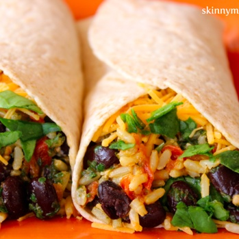 Spinach & Bean Burrito Wrap  Yields: 6 servings | Serving Size: 1 wrap | Calories: 282 | Total Fat: 5 g | Saturated Fat: 1 g | Trans Fat: 0 g | Previous Points: 5 | Points Plus: 8 | Cholesterol: 3 | Carbohydrates: 50 g | Sodium: 560 mg | Dietary Fiber: 5 g | Sugars: 3 g | Protein...
